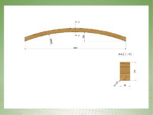 Dach oder Brückenbogen 8 x 14 x 4000