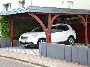 Kundenprojekt Carport mit 2,0m Bogen & 75,0cm Bogen bei Leimholzbogen.de